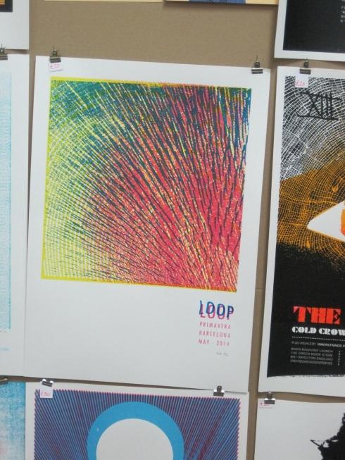 Cartell de Loop a la parada de Petting Zoo (Flatstock, Primavera Sound 2014)