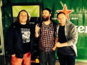 Membres de la taula rodona sobre el metal underground a Polònia, Primavera Pro. D'esquerra a dreta: Jarek, Vogg i Łukasz.