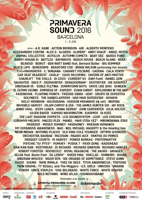 Cartell Primavera Sound 2016